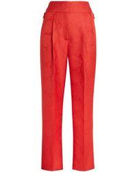 Roberto Cavalli Snakeskin Effect Pants - Orange