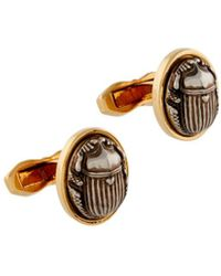 Roberto Cavalli Scarab Beetle Cufflinks - Metallic