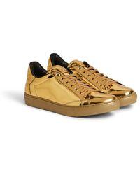 Roberto Cavalli Sneakers mit schlangen-print - Mettallic