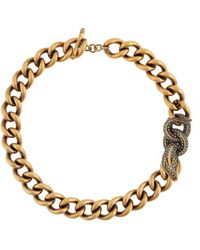 Roberto Cavalli Halskette mit Schlange - Mettallic