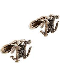 Roberto Cavalli Mirror Snake Cufflinks - Metallic