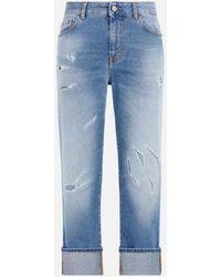 Roberto Cavalli Just Cavalli Distressed Cropped Jeans - Blue