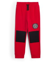 Roberto Cavalli Jersey Logo Track Trousers - Red