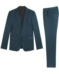 Roberto Cavalli Wool Blend Two Piece Suit - Blue