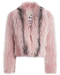 Roberto Cavalli Bolero aus marmoriertem Fuchspelz - Pink