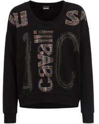 Roberto Cavalli Just Cavalli Hotfix Crystal-embellished Sweatshirt - Black