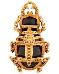 Roberto Cavalli Scarab Beetle Brooch - Metallic