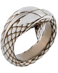 Roberto Cavalli Snake Ring - Metallic