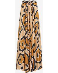 Roberto Cavalli Just Cavalli Abstract-Print Pleated Skirt - Mehrfarbig
