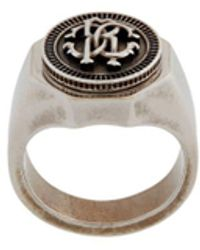 Roberto Cavalli Rc Monogram Ring - Metallic