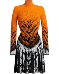 Roberto Cavalli - Kleid mit La Tigresse Jacquardmuster - Lyst