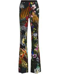 Roberto Cavalli Paradise Found Print Trousers - Black