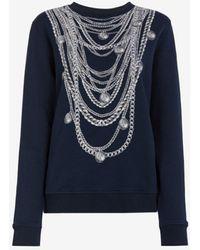 Roberto Cavalli Just Cavalli Chain-print Sweatshirt - Blue