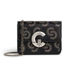 Roberto Cavalli Small Bold C Studded Belt Bag - Black