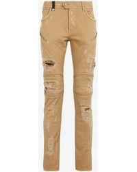 Roberto Cavalli Just Cavalli Studded Raised-Seam Jeans - Mehrfarbig