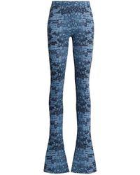 Roberto Cavalli Skinny-Hose mit Animal-Print - Blau