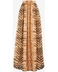 Roberto Cavalli Just Cavalli Animalier-Print Silk Skirt - Mehrfarbig