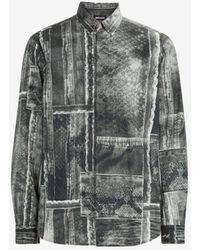 Roberto Cavalli Just Cavalli Python-Print Shirt - Grau