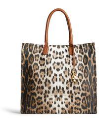 Roberto Cavalli - Leopard Print Tote Bag - Lyst