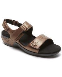 Rockport Womens Aravon Katy Sandal - Size 5 - Brown