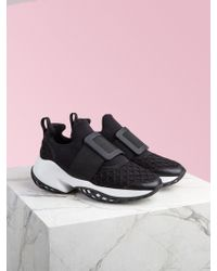 Roger Vivier Viv' Run Scuba And Leather Sneakers - Black