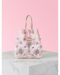 Roger Vivier Viv' Pocket Soirée Pendant Mini Bag - Pink
