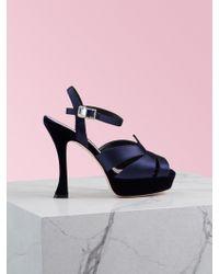Roger Vivier Viv' Bling Platform Sandals - Blue