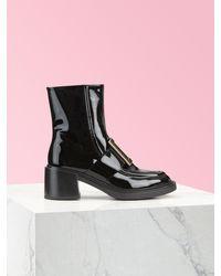 Roger Vivier Viv' Rangers Metal Buckle Ankle Boots - Black