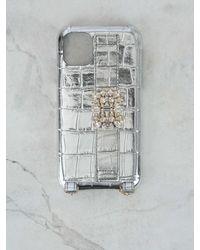 Roger Vivier Broche Vivier Buckle Iphone 11 Case - Metallic
