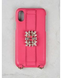 Roger Vivier Broche Vivier Buckle Iphone 11 Case - Pink