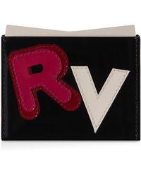 Roger Vivier Credit Cards Holder In Patent Leather - Black