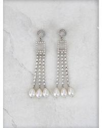 Roger Vivier Buckle And Pearls Earrings - Metallic