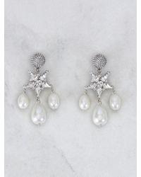 Roger Vivier Stars And Pearls Earrings - Metallic