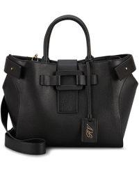 Roger Vivier Medium Pilgrim De Jour Handbag - Black