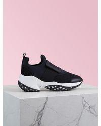 Roger Vivier Sneakers Viv' Run Boucle Gomme en Tissu Technique - Noir