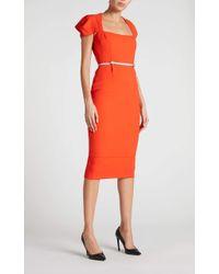 Roland Mouret Galaxy Dress - Orange