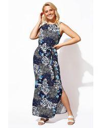 Roman Originals - Floral Print Belted Maxi Dress - Lyst
