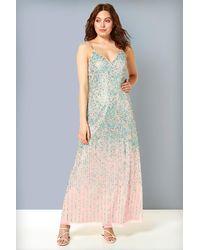 Roman Originals Sequin Maxi Dress - Multicolour