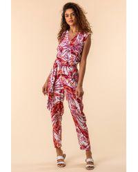 Roman Originals - Tropical Print Jumpsuit - Lyst