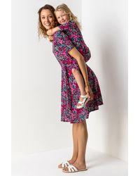 Roman Originals - Floral Print Belted Skater Dress - Lyst