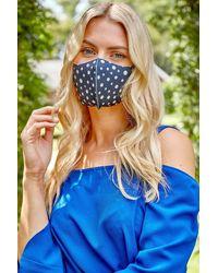 Roman Originals Spot Print Fast Drying Fashion Face Mask - Blue