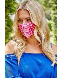 Roman Originals Animal Fast Drying Fashion Face Mask - Blue