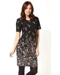 Roman Originals - Floral Border Puff Print Dress - Lyst