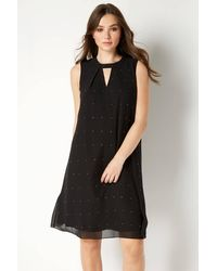 Roman Originals Embellished Keyhole Swing Dress - Black