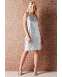 Roman Originals Sequin Shift Dress - Metallic