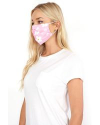 Roman Originals Flower Print Fast Drying Fashion Face Mask - Pink