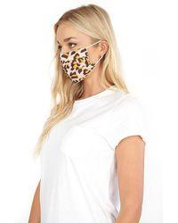 Roman Originals Leopard Print Fast Drying Fashion Face Mask - Brown