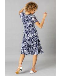 Roman Originals - Floral Burnout Midi Dress - Lyst