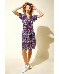 Roman Originals - Twist Front Geo Print Tea Dress - Lyst