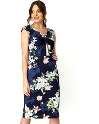 Roman Originals - Twist Front Floral Print Dress - Lyst